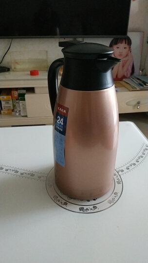 咔咔保温壶暖壶家用热水瓶水壶暖瓶开水瓶保温瓶大容量304不锈钢保暖壶欧式家用热水壶保温咖啡杯壶 香槟金 晒单图