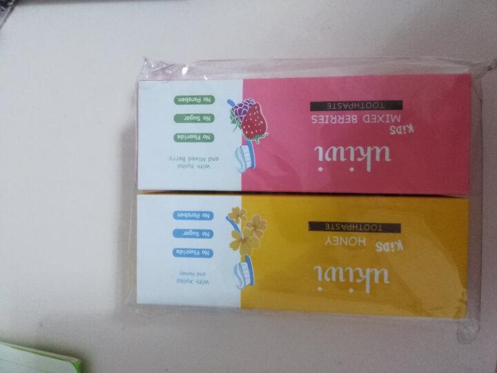 纽西小精灵(ukiwi)10个月-12岁儿童牙膏2支装 (蜂蜜50g+多莓50g)(低泡不添加氟不怕吞咽) 晒单图