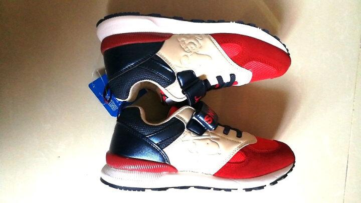 史努比童鞋儿童运动鞋加棉保暖秋新款男童鞋跑步鞋女童棉鞋 702网布红色 32码/内长约202mm 晒单图