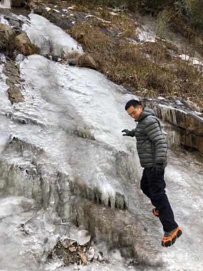公狼户外登山冰爪 防滑鞋套 地套 雪爪 雪地 冰抓攀岩 8齿锰钢 橘色 晒单图
