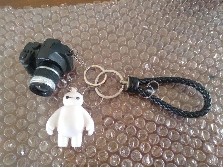 卡通可爱大白叮当猫暴力熊公仔发光发声相机钥匙扣男女汽车包挂件 LED黑鲸鱼+黑白铃+黑绳 晒单图