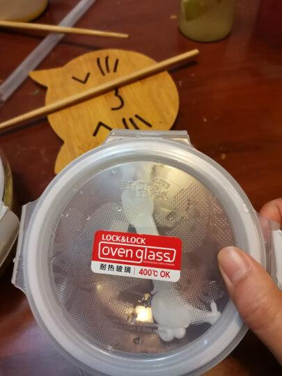 乐扣乐扣 微波炉专用加热饭盒 耐热玻璃保鲜盒套装 玻璃碗带盖便当盒餐盒 容量女生适用 赠带饭包 750+380ml 晒单图