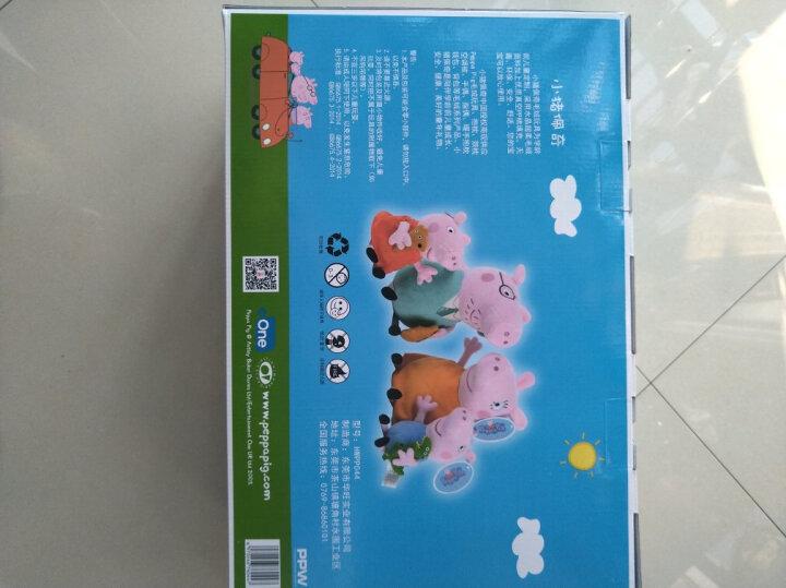 小猪佩奇毛绒玩具公仔 啥是佩奇 佩琪布娃娃儿童沙发抱枕宝宝安抚玩偶礼品圣诞节生日礼物送女友男友 小号一家四口礼盒+泰迪熊+恐龙 晒单图