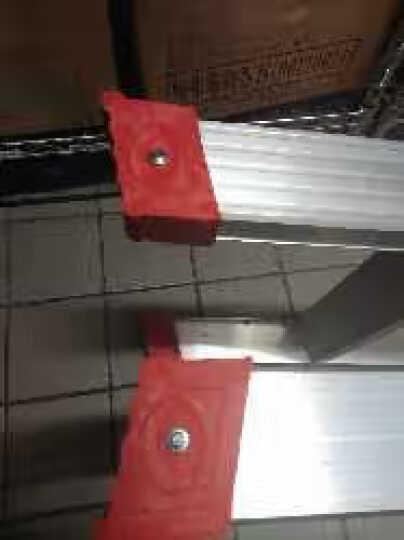 奥誉加宽铝合金梯子双层加厚2米踏板工程梯子家用梯双面人字折叠伸缩扶梯 加强版 1.2米高 晒单图