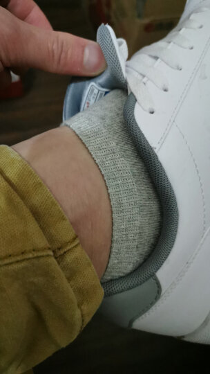 特步男鞋板鞋男2020年夏季休闲鞋官网皮面耐磨滑板鞋小白鞋子男士旅游鞋运动鞋R 白红 41 晒单图