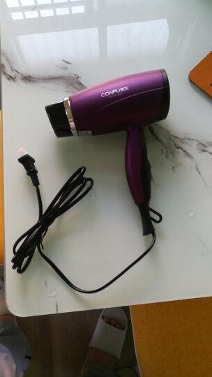 康夫电吹风可折叠家用吹风机1800W 旅行便携式吹风筒KF-5110 紫色 晒单图