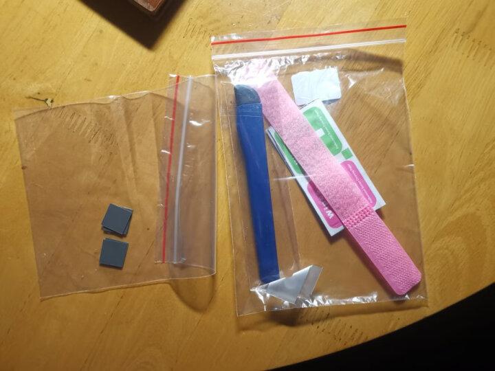 九菱 导热硅胶片  散热胶垫片 贴电脑笔记本CPU散热南北桥 显卡固态硅脂垫 30X30X0.5 蓝色 5片 晒单图