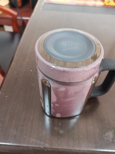 万象(WANXIANG)紫砂内胆茶杯 男士商务泡茶杯 带茶漏滤网带手柄I27P 礼盒装棕木灰420ML 晒单图