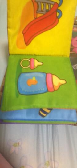LALABABY/拉拉布书布卡 早教玩具0-1岁 撕不烂可水洗 男孩女孩玩具 识字卡 认知卡片 动物与数字 晒单图
