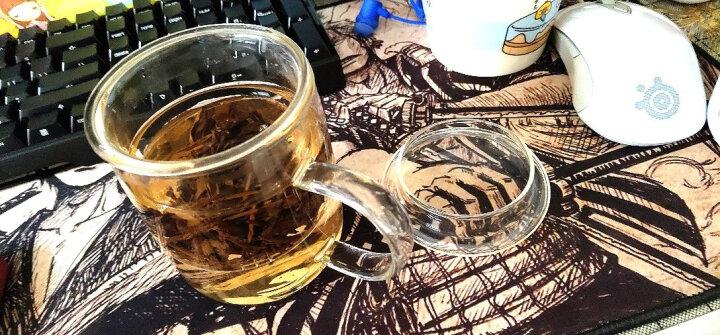 品茶忆友 玻璃杯水杯子泡茶杯茶水分离杯办公室耐热玻璃茶水杯 p-07玲珑 晒单图