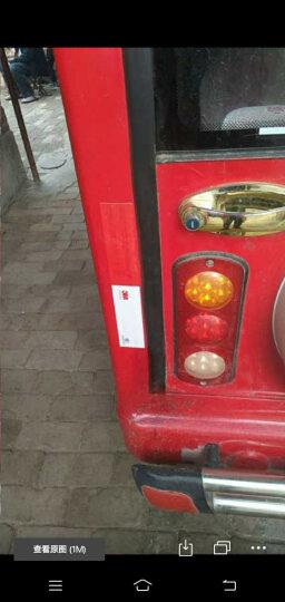 趣行 红白双色斜纹反光条 宽5cm长45.7米 安全区警戒线墙贴地板贴标志 加厚反光膜警示胶带 晒单图