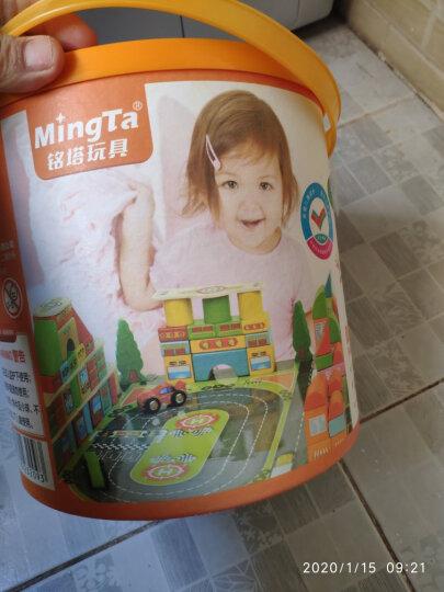 铭塔128粒幼儿园积木 婴幼儿童玩具木制质宝宝男孩女孩拼装拼图 1-2-3岁智力启蒙大颗粒桶装生日礼物 晒单图