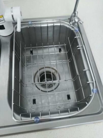 莱尔诗丹(Larsd) P002 可伸缩不锈钢沥水篮 置物篮 水槽沥水篮 晒单图