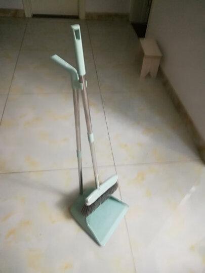 尚洁 扫把簸箕套装 卫生间家用扫地扫帚笤帚软毛扫头发畚箕 刮齿两件套绿色升级款 晒单图