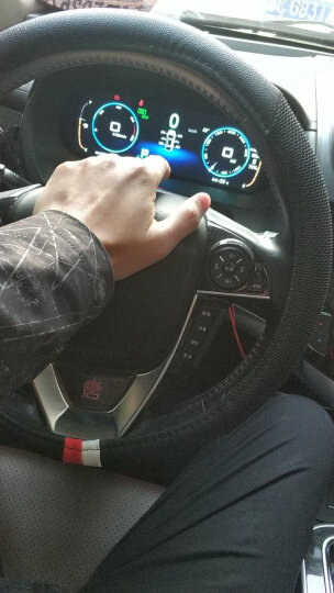 YooCar 汽车方向盘套四季通用把套免手缝透气防滑 黑咖色中号 晒单图