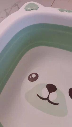序言(XUYAN)婴儿脸盆洗脸盆宝宝pp盆儿童加厚洗手洗漱盆 小狗折叠款-蓝色-大号 脸盆 晒单图