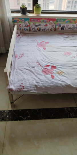彭友家私 实木折叠床单人床午睡床双人床实木板床简易床午休床 1.2米宽 PY-ZD12 晒单图