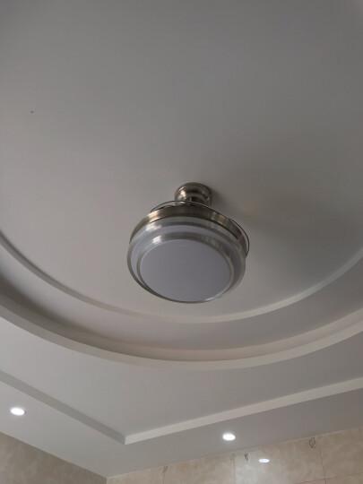雷士(NVC) LED照明 卧室风扇灯客厅吊扇灯隐形餐厅现代欧式简约吊灯 遥控灯具套餐灯饰通风换气 【36瓦三档调色/6档调速】正反转(变频款银风) 晒单图