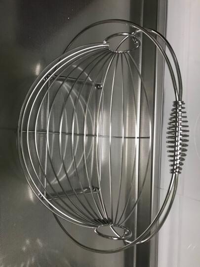 尚合 不锈钢水果篮摇摆沥水果盆客厅装饰水果篮子创意圆形水果盘 加厚带水盘款 晒单图