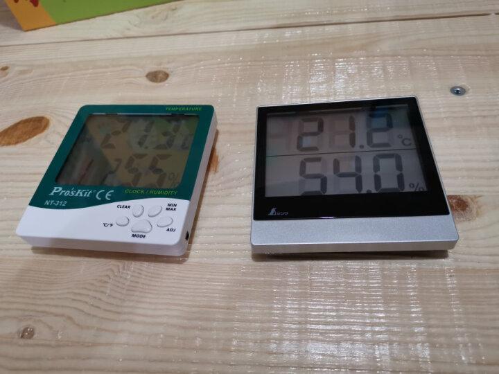 宝工NT-312数字数显温度计 时钟 闹钟 大屏幕电子温湿度计 办公家用室内外测温计 附温度探头 晒单图