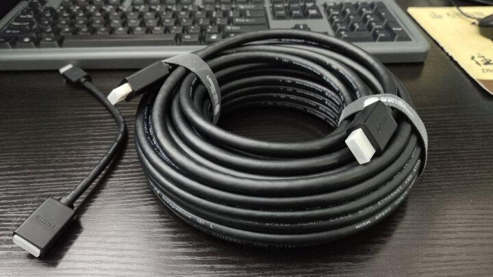 绿联(UGREEN)Mini HDMI转标准HDMI转接线 公对母高清数据转换头 平板相机连接电脑电视投影仪显示器黑20137 晒单图