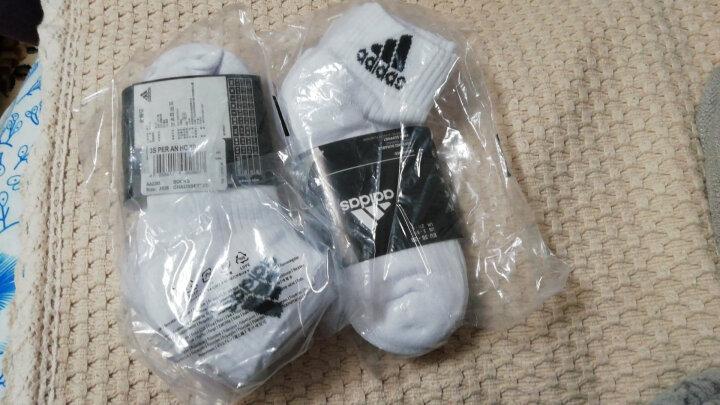 阿迪达斯adidas男女袜子运动休闲棉袜六双装白色S码35-38码 晒单图