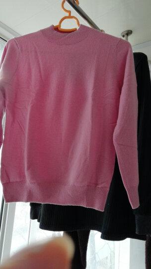 鳄鱼恤女士100%山羊绒针织半高领打底毛衣女基础款纯羊绒衫 白色 175/96A(110cm) 晒单图