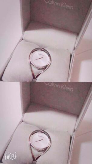 CK卡文克莱(CalvinKlein)手表  LIGHT系列银色钢表带手镯式石英女表K6L2S116 晒单图