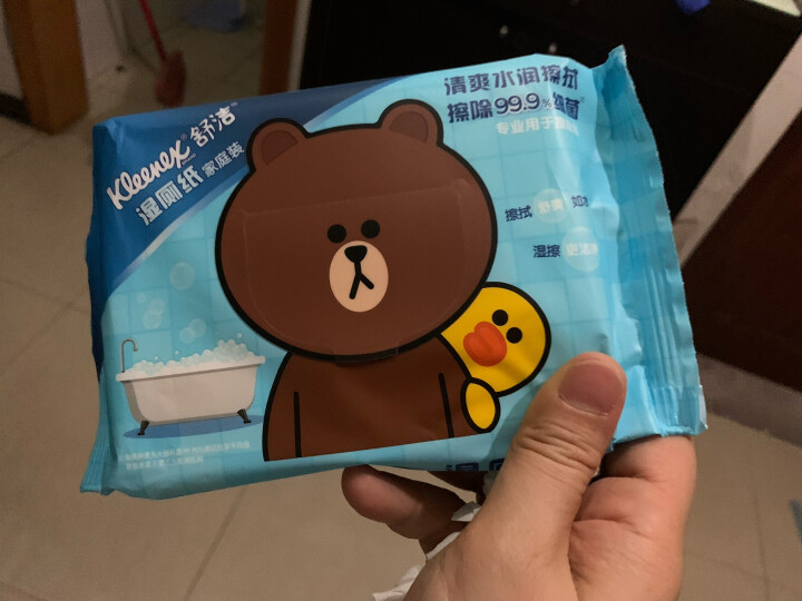 舒洁(Kleenex)LINE FRIENDS 湿厕纸 40片家庭装 擦除99.9%细菌 清洁湿纸巾湿巾 可搭配卷纸卫生纸使用 晒单图