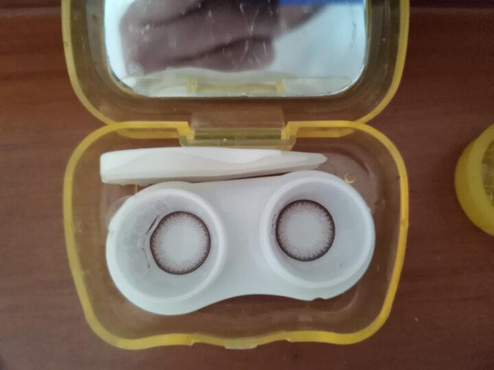 海昌 原装进口半年彩色美瞳隐形眼镜 半年抛HAPPYGO1片迷离灰 375度(新老包装随机发货) 晒单图