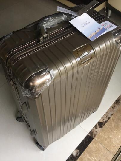 【轻奢轻韧 防刮铝框】铝框拉杆箱行李箱男士女士登机箱20寸24寸30寸28寸学生旅行箱密码行李箱 轻奢款 尊贵白 26英寸丨移动家 晒单图