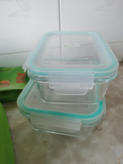 贝特阿斯 高硼硅耐热玻璃饭盒微波炉饭盒自营560+760ml(双隔断)保鲜盒便当盒RLG2-07B送红色保温袋 晒单图