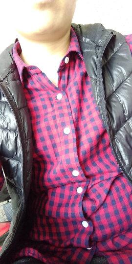 BRIOSO 纯棉格子衬衫女长袖学生春秋大码女装中长款全棉女生宽松上衣女士打底衫女式衬衣 N110023 M体重95斤左右合适 晒单图
