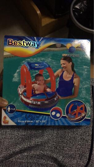 Bestway百适乐 婴儿座圈 儿童泳圈宝宝游泳圈幼儿泳圈坐圈 新生儿腋下泳圈浮圈带遮阳棚 (1-2岁适用)34093 晒单图