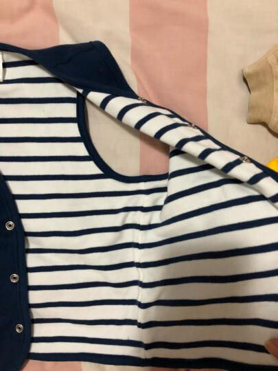 贝贝怡童装春季婴儿衣服上衣背心男女宝宝双面穿纯棉小马甲 蓝白 24个月/身高90cm 晒单图