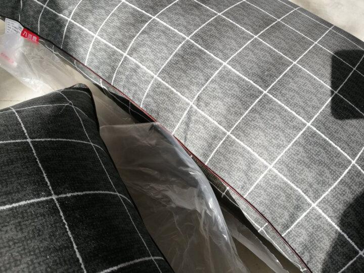 九洲鹿 枕套家纺 全棉枕套 斜纹枕头套枕芯套  都市密码 一对装 48*74cm 晒单图