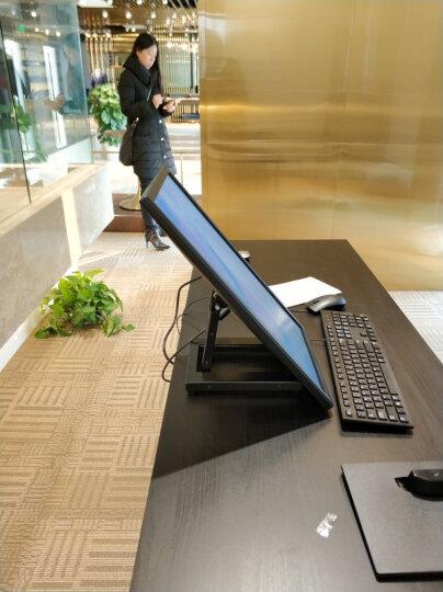 威视朗14-24英寸全金属桌面触摸屏底座360横竖屏旋转折叠液晶显示器支架会议主席台触控屏监视器台架 TSM-400铝合金底座(多功能3合1) 晒单图