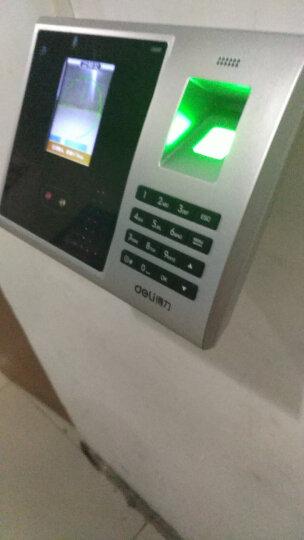 得力(deli)33005 人脸+指纹混合识别考勤机 无接触打卡 大容量面部识别打卡机 晒单图
