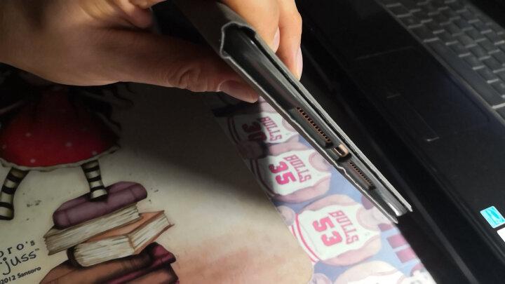 毕亚兹 无线蓝牙键盘皮套 2018/17新款ipad保护套 保护后外壳 ipad air1/2商务9.7英寸通用 PB45-睿智黑 晒单图