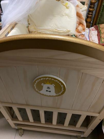 呵宝(HOPE)婴儿床实木环保无漆新生儿bb宝宝幼儿摇篮床 多功能可拼接加长儿童床 PLUS款+床品5件套(花色留言)+棉被+椰棕床垫 晒单图