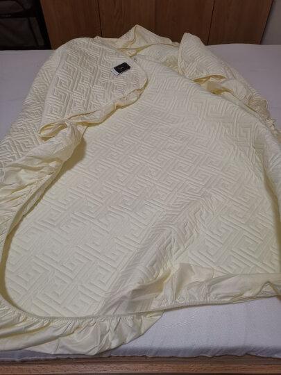丝域 夹棉加厚床笠单件高档席梦思床垫套纯棉床罩1.8米乳胶床垫保护套1.5m防滑床套防尘罩子定制定做 长城格(米色) 1.8米床180*200cm 围高32cm 晒单图