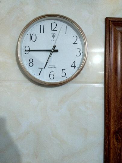 北极星(POLARIS)挂钟 客厅静音简约创意石英钟时尚卧室钟表12英寸现代田园时钟欧式挂表6817香槟金 晒单图