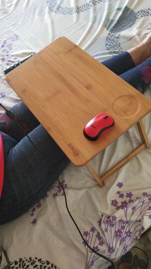 京好 床上电脑桌子 现代简约环保楠竹可折叠升降平板笔记本简易支架A60 大号双花 快递送货 晒单图