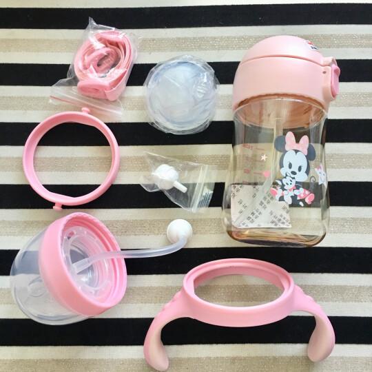 迪士尼(Disney)乐动儿童水杯塑料吸管杯防漏背带幼儿水瓶婴儿杯子公主水杯宝宝喝水杯450ml粉色米妮 晒单图