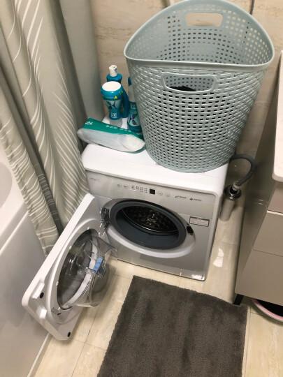 小吉(MINIJ)全自动滚筒迷你洗衣机 小婴儿内衣儿童95°高温煮洗 DD变频电机 上排水 云漫白 晒单图