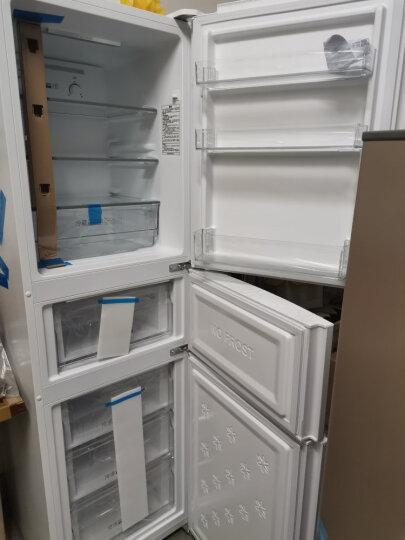 海尔(Haier)213升家用小型三门冰箱 风冷无霜 DEO净味保鲜 007软冷冻宿舍租房小巧不占地方BCD-213WMPV 晒单图