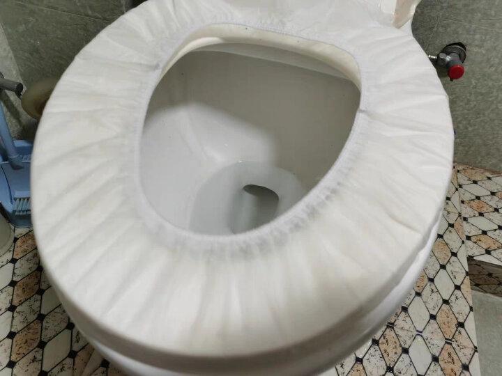 蓝加白防水一次性马桶垫60片 旅行粘贴旅游酒店坐垫纸产妇坐便垫 晒单图
