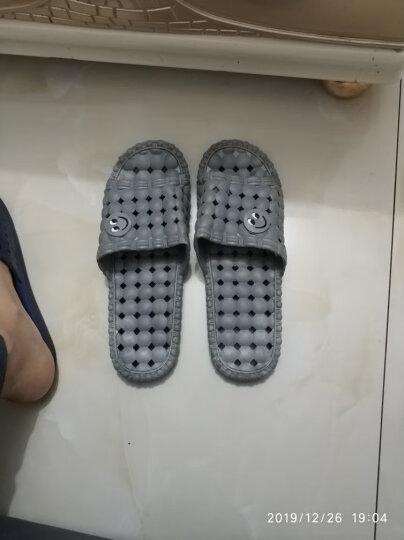 南极人 拖鞋洗澡漏水防滑情侣居家浴室拖鞋 女款天蓝色38-39码18001 晒单图