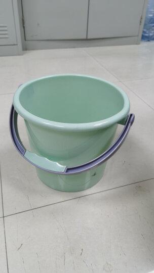vivian 小号水桶7L 加厚塑料桶 清洁小提桶 WWA-1151 晒单图