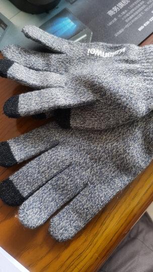 卡兰薇 触摸屏毛线手套男女冬季韩版情侣全指防滑手套骑车保暖加绒加厚 7016-桃红色 晒单图